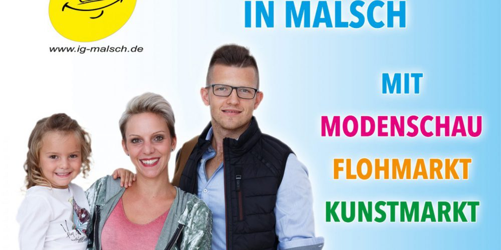 Verkaufsoffener Sonntag in Malsch wird zum Fashion-Day am 09. September 2018 von 13-18 Uhr