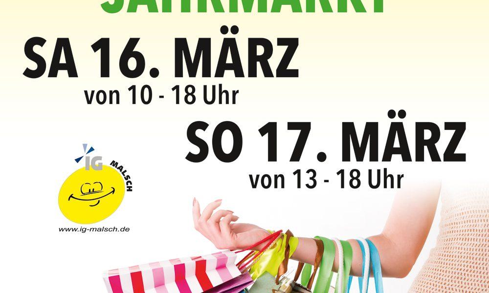 16.-17.03.2019 Verkaufsoffener Sonntag mit Jahrmarkt und vielen Aktionen entlang der Hauptstrasse