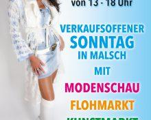 Verkaufsoffener Sonntag in Malsch am 03.09.2017 mit Modenschau, Kunstmarkt und Flohmarkt