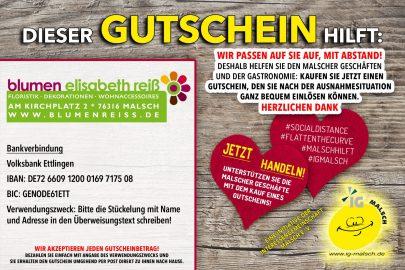 Blumen Reiß Gutschein ~ MALSCH hilft!