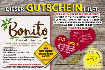 Restaurant Bonito Gutschein ~ MALSCH hilft!