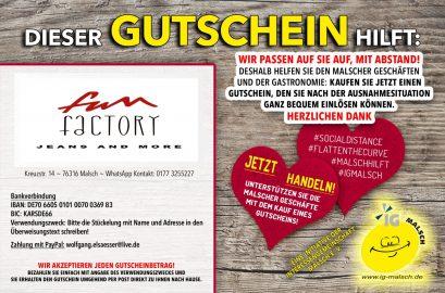 Fun Factory Gutschein ~ Malsch hilft!