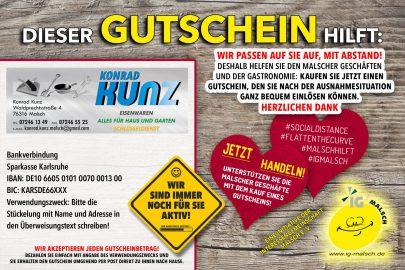Konrad Kunz Eisenwaren Gutschein ~ MALSCH hilft!