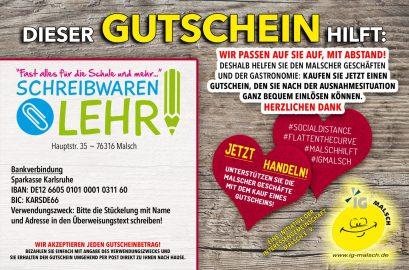 Schreibwaren Lehr Gutschein ~ MALSCH hilft!