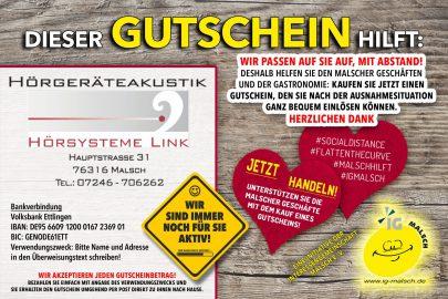 Hörsysteme Link Gutschein ~ MALSCH hilft!