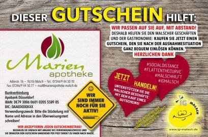 Marien Apotheke Gutschein ~ MALSCH hilft!