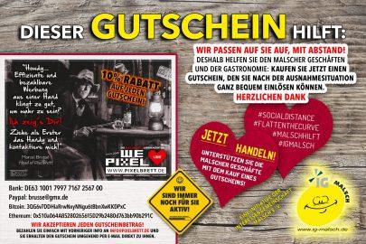 PIXELBRETT Gutschein ~ MALSCH hilft!