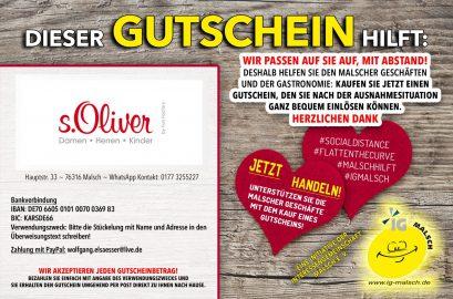 s. Oliver Gutschein ~ Malsch hilft!