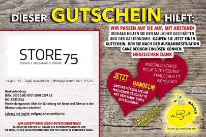Store75 Gutschein ~ MALSCH hilft!