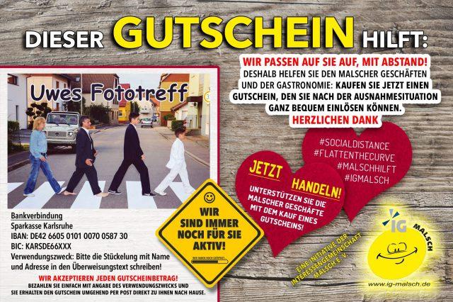 Uwe´s Fototreff Gutschein ~ MALSCH hilft!