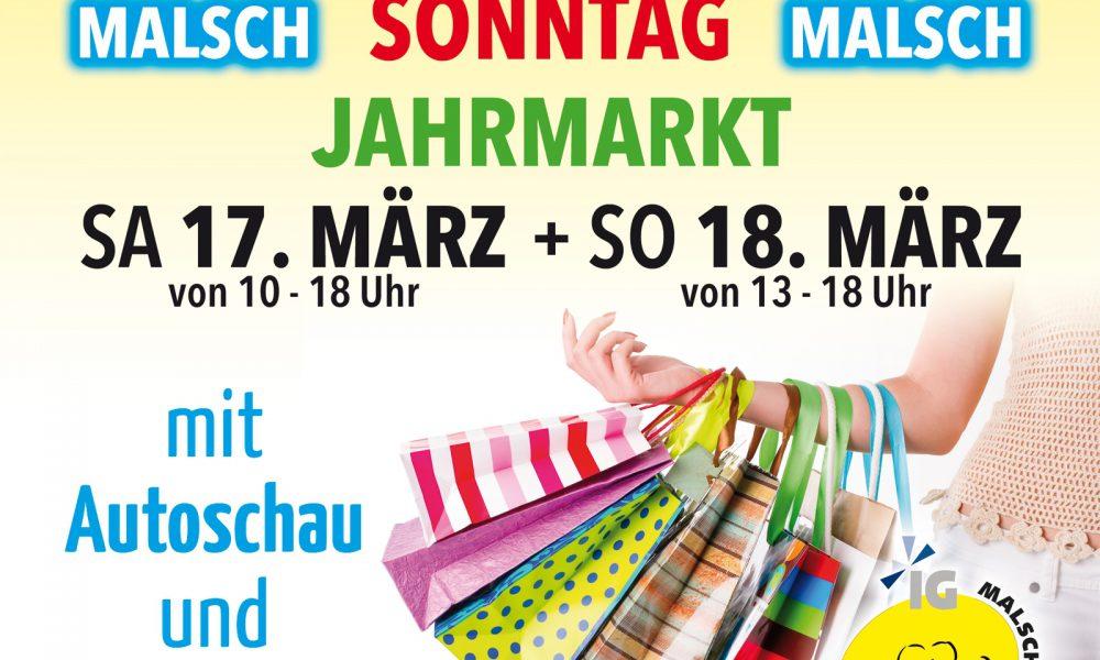 17.-18.03.2018 Verkaufsoffener Sonntag mit Jahrmarkt und vielen Aktionen entlang der Hauptstrasse
